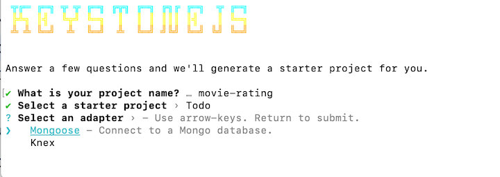 Create a New App With Keystone.js