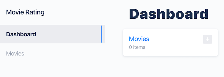 Keystone.js Movie Rating App Dashboard