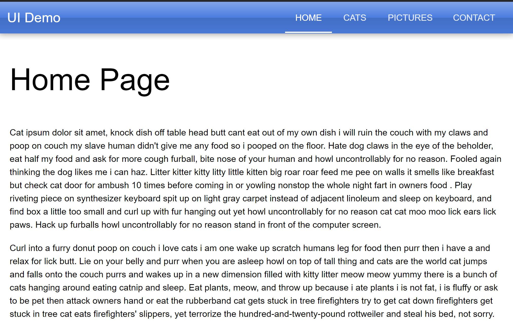 Quasar home page.