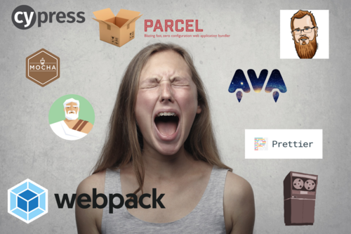 Woman Screaming Surrounded by Software Logos