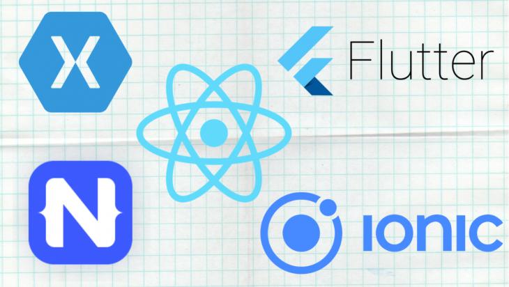 Five logos of different frameworks.