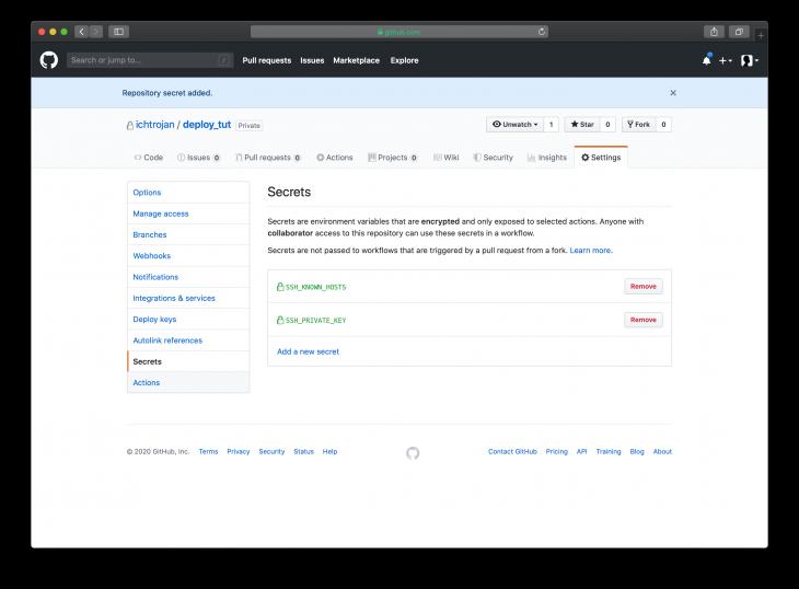 GitHub Secrets 2