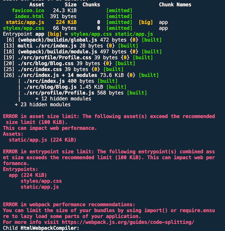 Failed Build Output With Errors