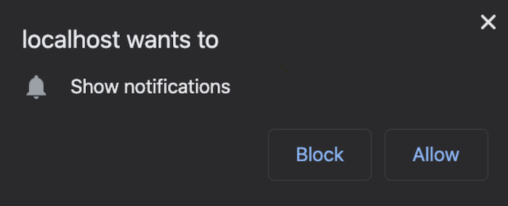 Notification Request Prompt