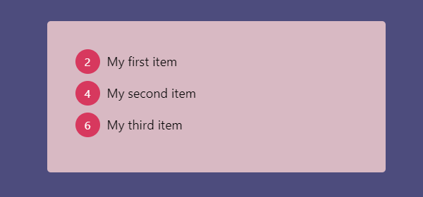 Styled Ordered List With counter-increment