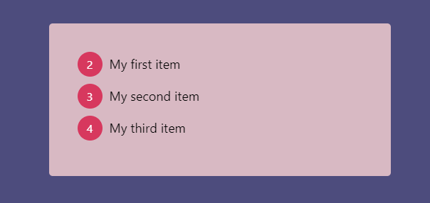 Ordered List Styled With counter-reset