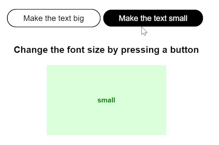 React Component Decrease Text Size