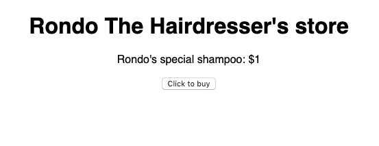 Rondo's Very Simple E-store