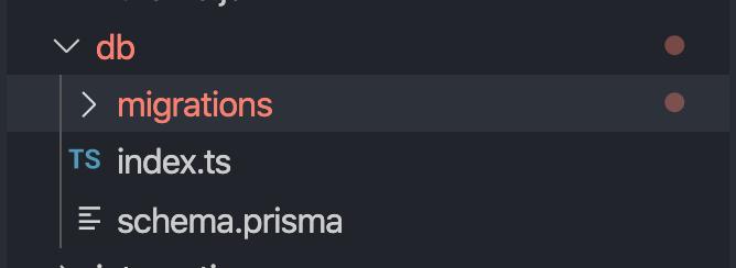 A screenshot of the schema.prisma.