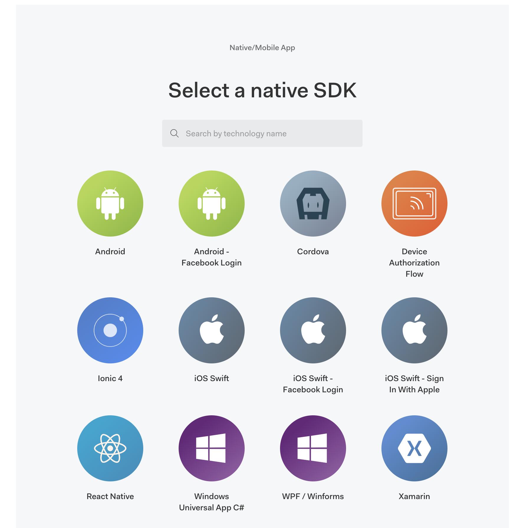 select native sdk