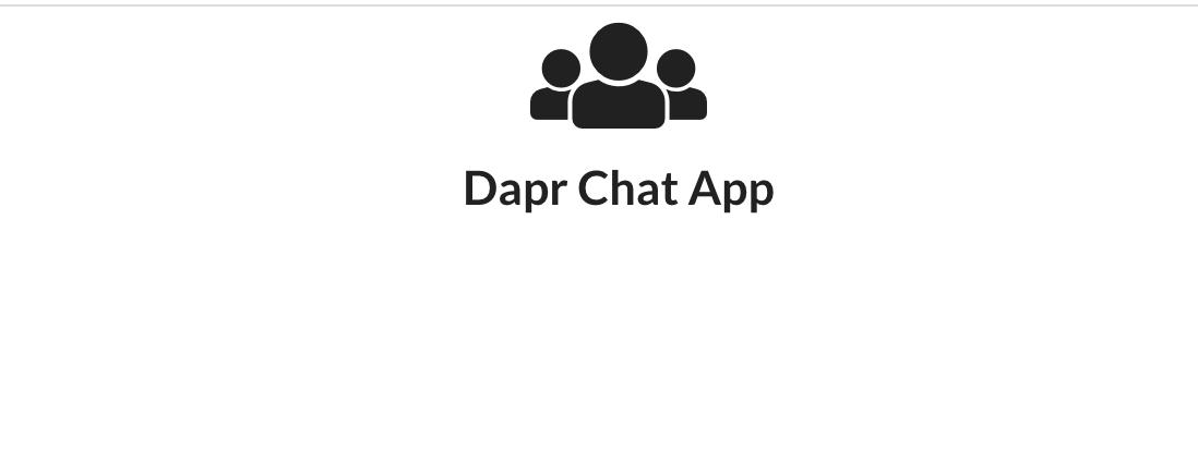 Dapr chat app