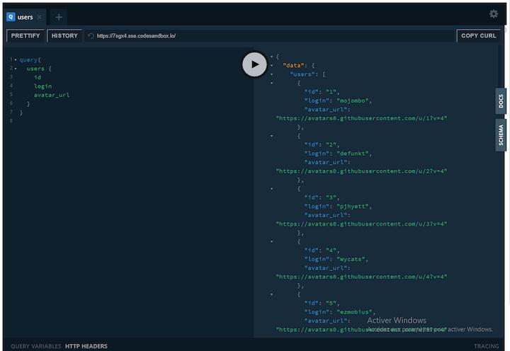 GraphQL Playground Running in Browser