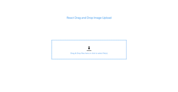 React Drag-and-Drop Image Upload Dropzone Component