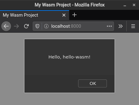 WASM Project Running in Browser