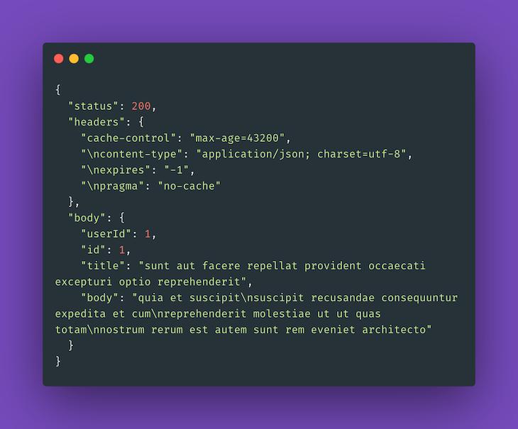 Sample API Response Using Moon's HTTP Driver