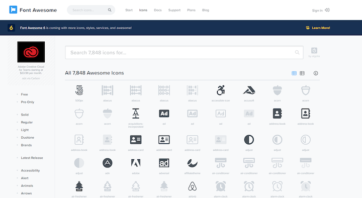 Font Awesome Icon Collection