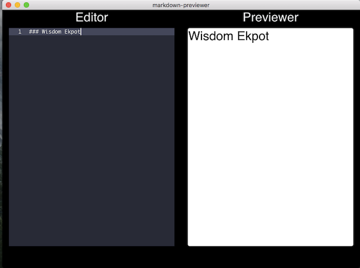 Header Elements in Editor