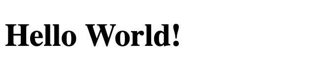 Text saying 'Hello world!'