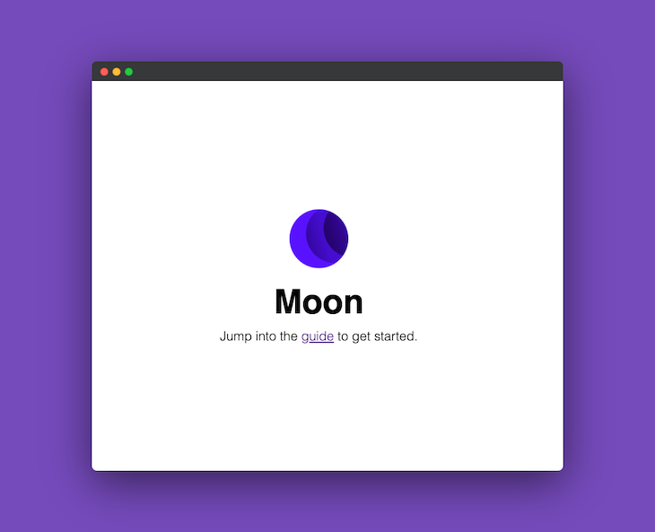 Welcome Screen Of A Moon Application