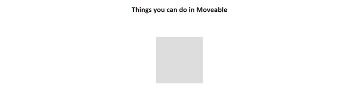 Moveable Demo App