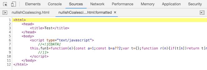 nullish coalescing before Chrome 85