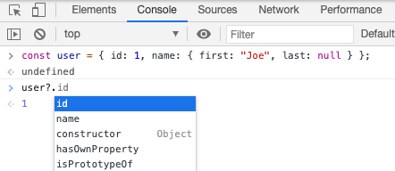 optional chaining in chrome 85