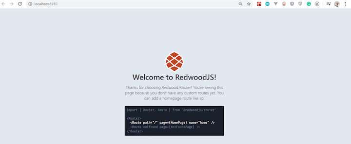 Redwood Welcome Page