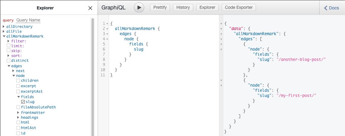 A code explorer with GraphQL.
