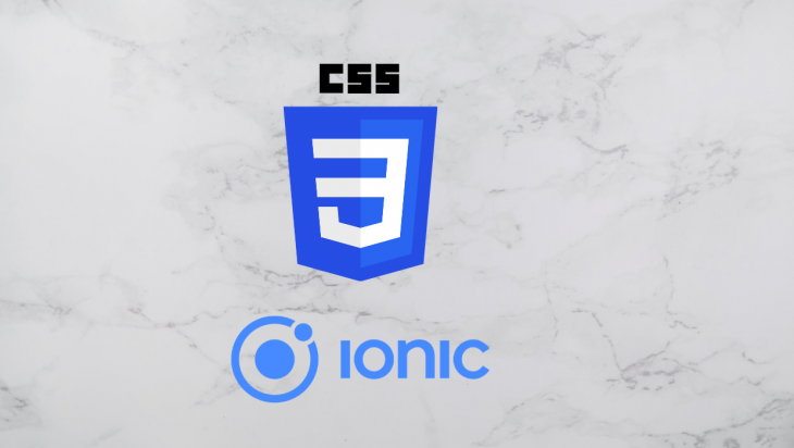 The Ionic and CSS logos.