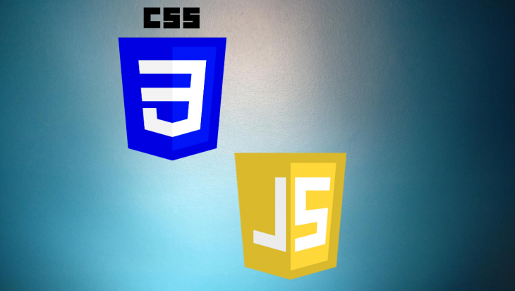 The CSS and JavaScript logos.