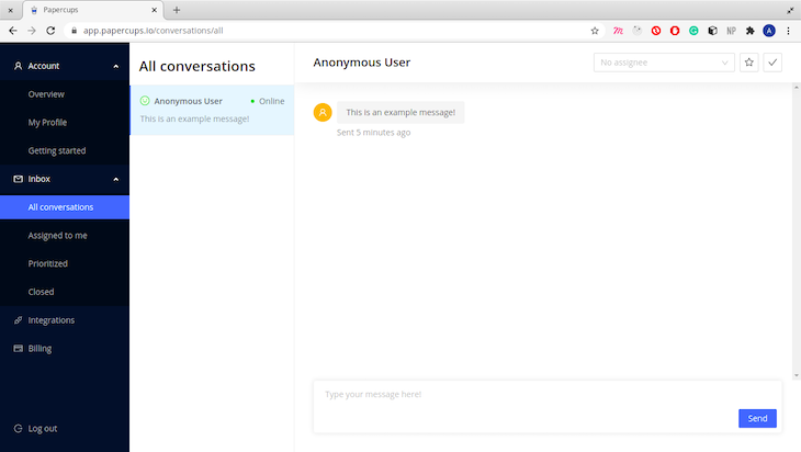 Customer Availability In The All Conversations Page