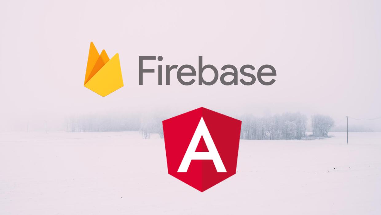 Firebase and Angular logo.