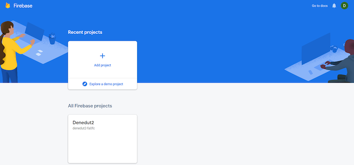 Create New Project in Firebase