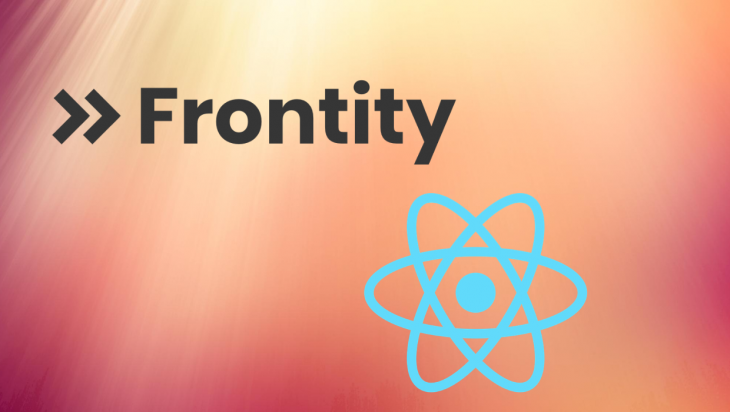 The Frontity and React logos.