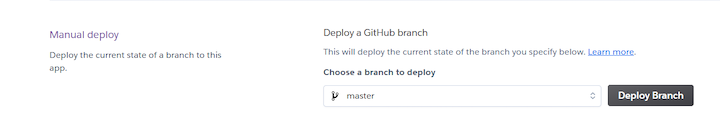 Heroku Manual Deploy