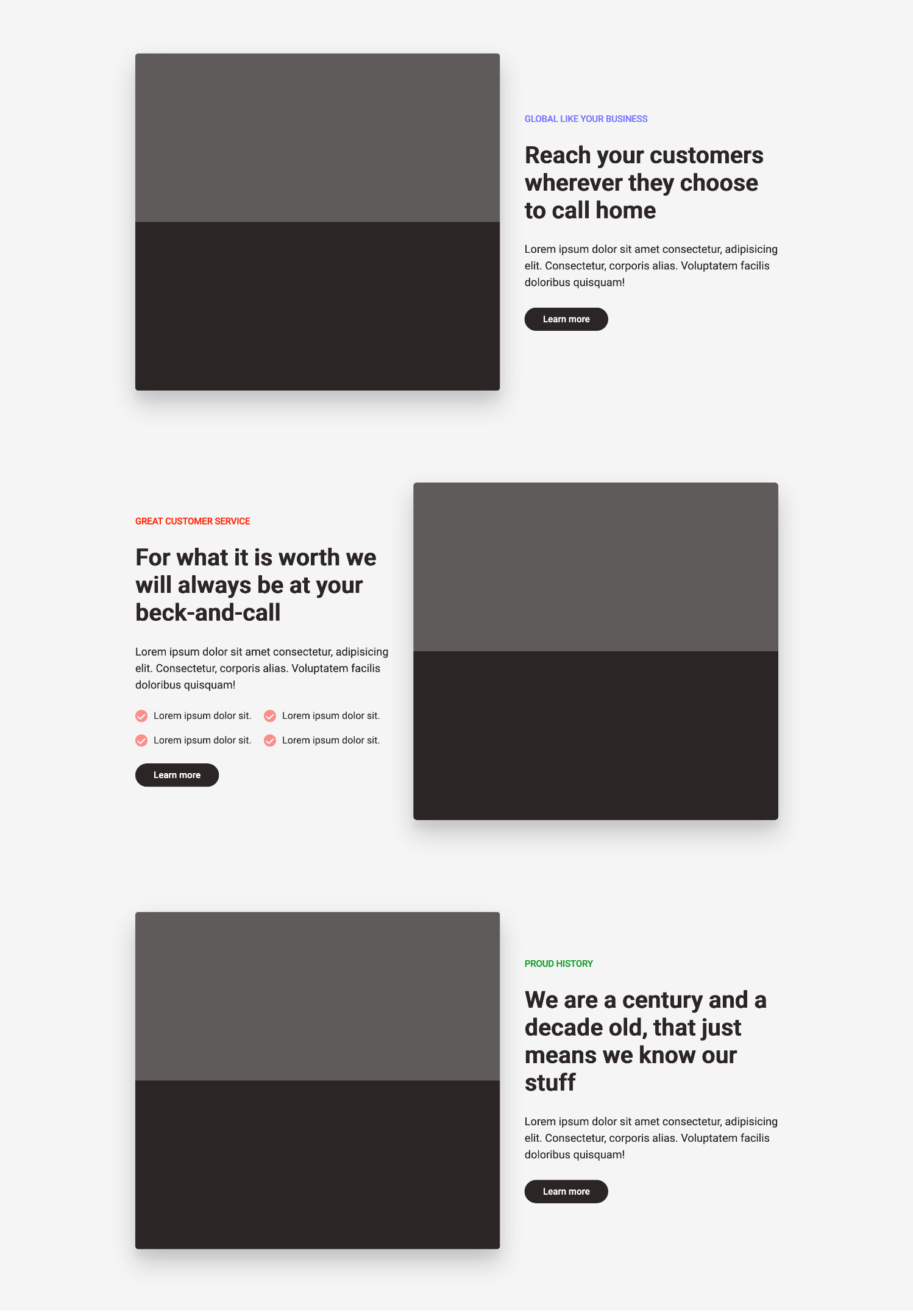 Complete Gatsby landing page.