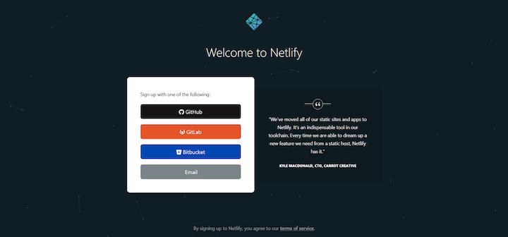Create Netlify Account