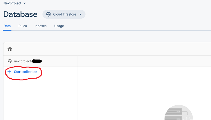 A screengrab of the console for setting up your Firebase project.