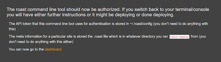 Roast Authentication