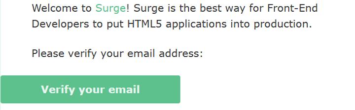 Surge Email Verification