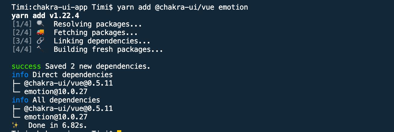 The Chakra UI code.