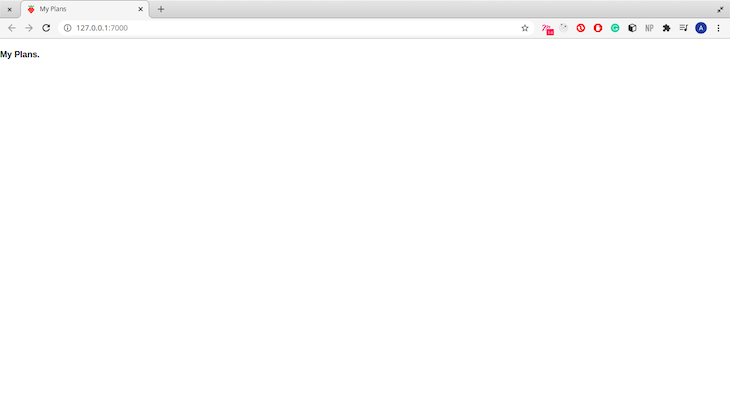 Unstyled Header Component in Our Malina.js App