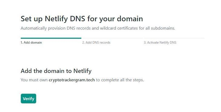 Configuring the Netlify DNS Settings