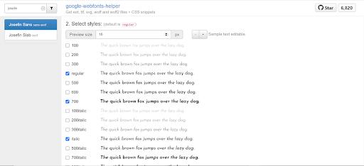 list of google fonts