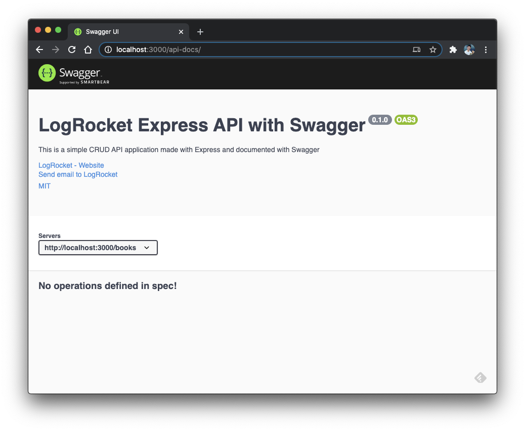 The Swagger UI.