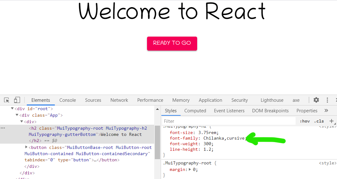 welcome to react in chilanka font