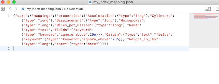 The my_index_mapping.json File