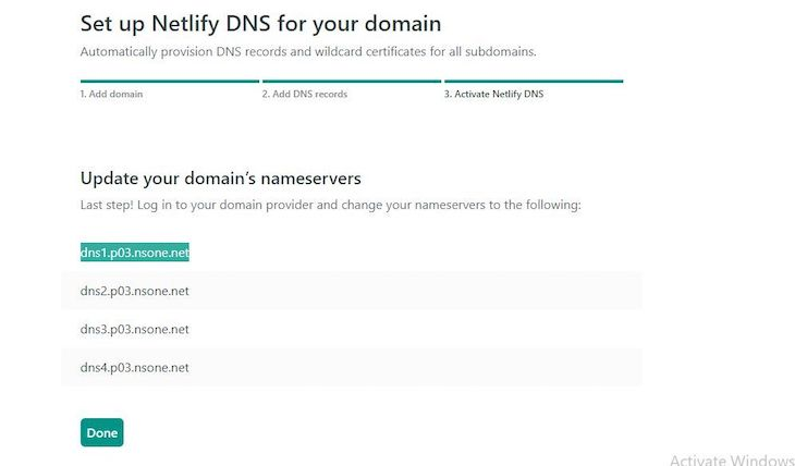 Updating Our Domain's Nameservers