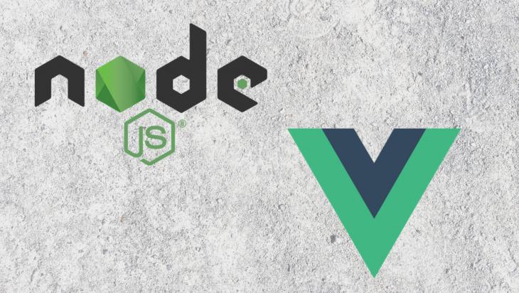 Node and Vue logos.