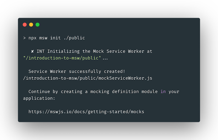 Placing The Service Worker Using The init Command
